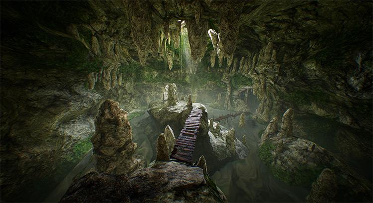 3d cave environment design