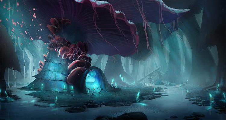 Nur Stonon Loko Mushroom Cave Environment