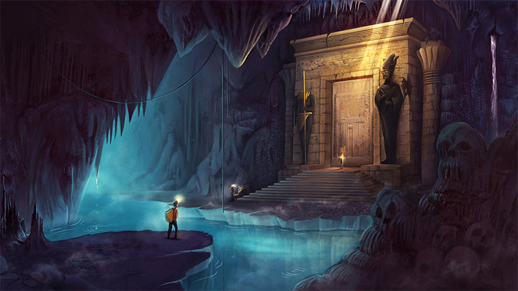 Ancient Cavern Environment Artwork
