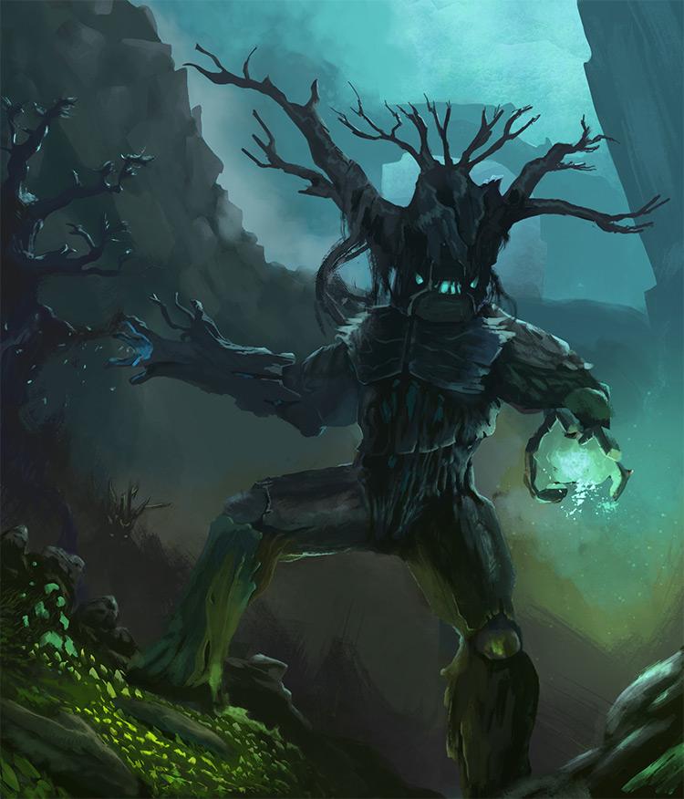 Tree Golem Creature Art