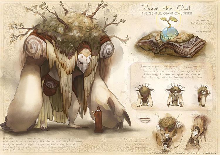 Gentle giant golem creature concept