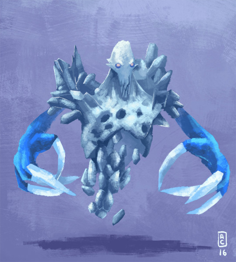 White ghost apparition concept
