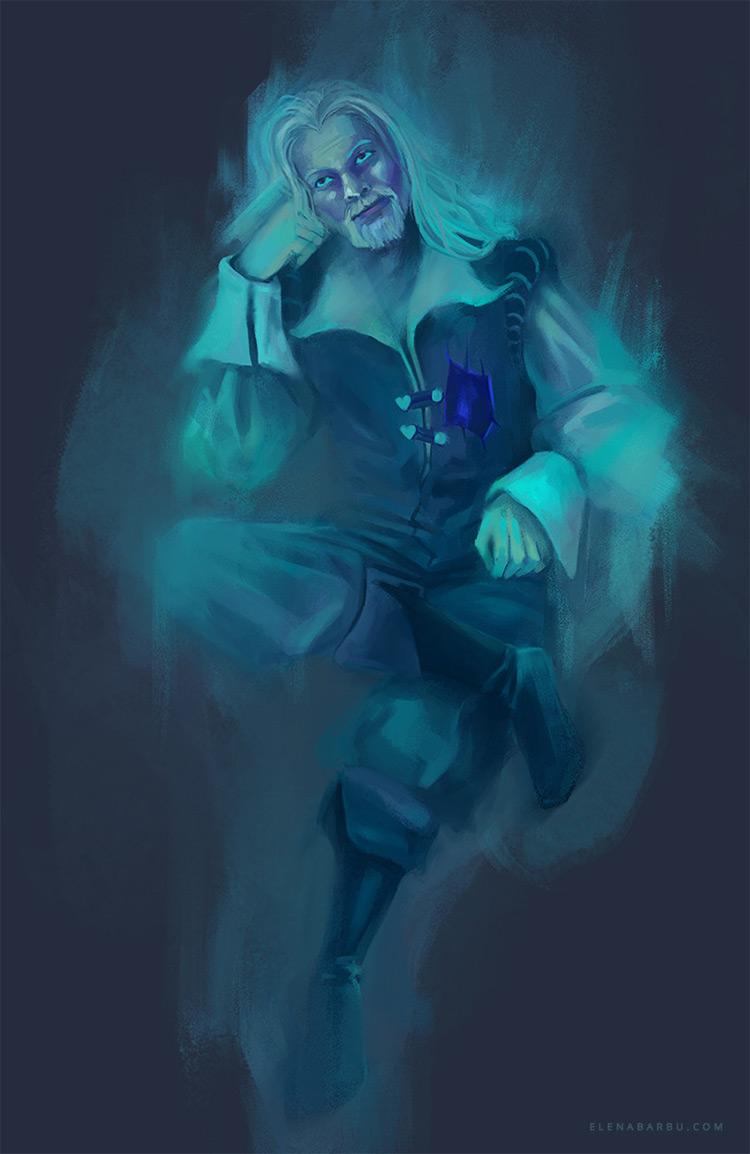 Classic ghost apparition man