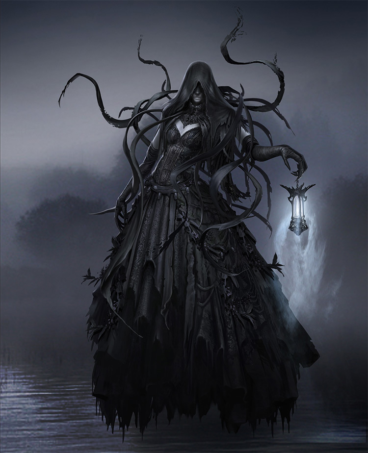 River ghost queen character design