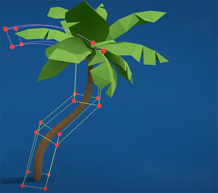fully rendered 3D palm tree