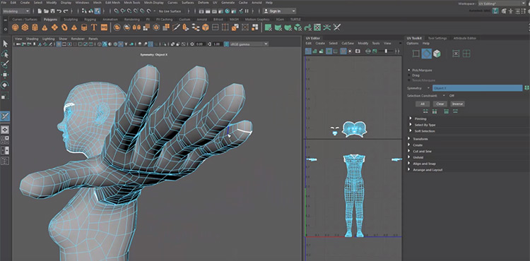 UV Mapping in Maya
