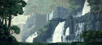 Jungle pixel art environment