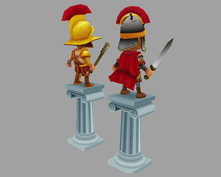 LowPoly warrior rig