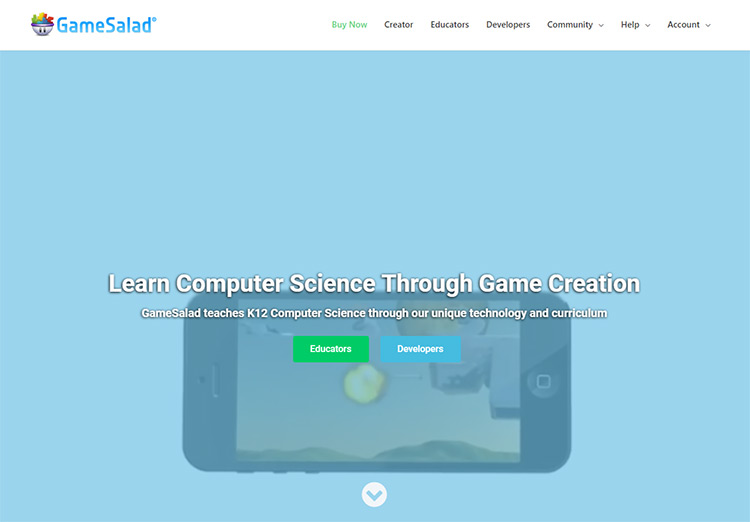GameSalad homepage