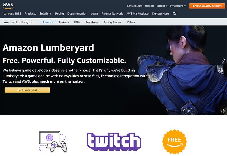 Lumberyard homepage
