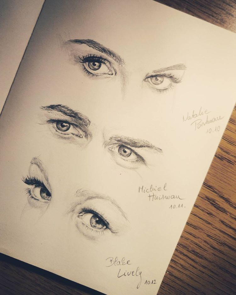 Moleskine human eyes drawings