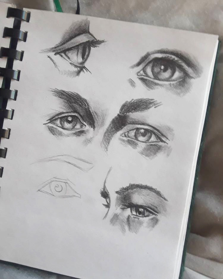 Sketchbook full of eyes