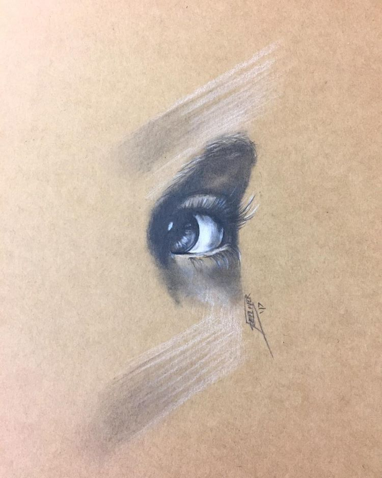 Detailed realist human eye