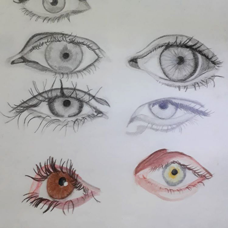 Quick sketches of human eyes