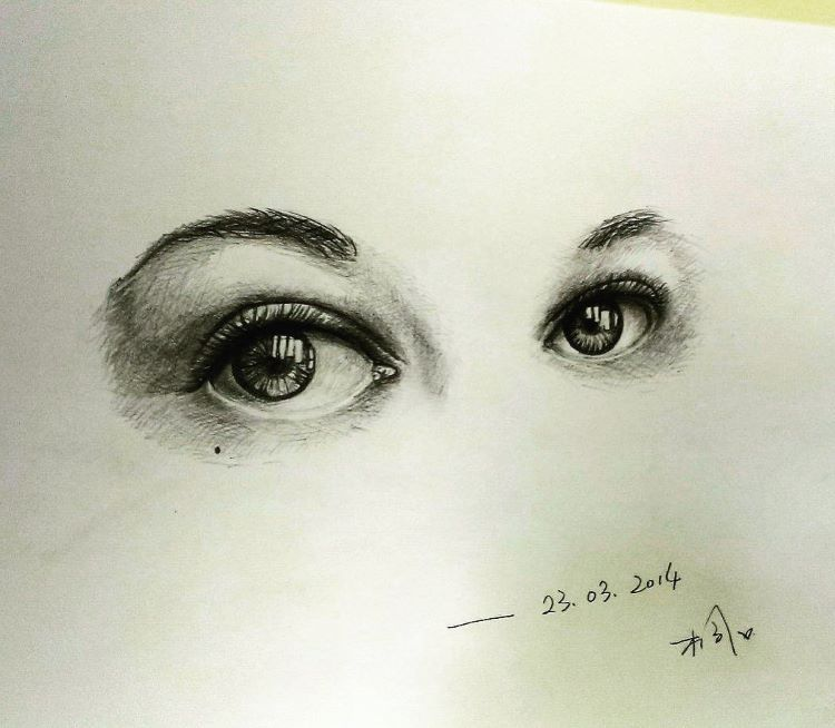 Eyes looking at you - sketchbook