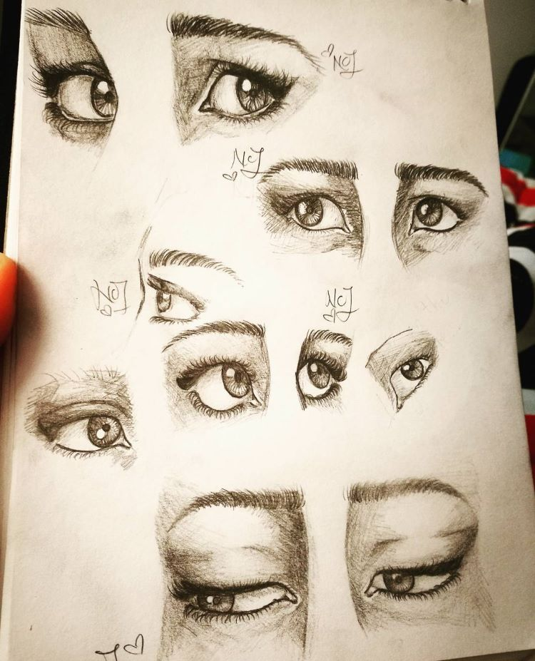 Drawing practice for eyes