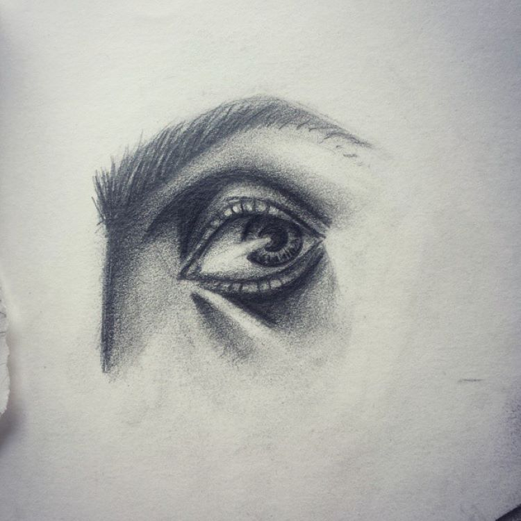 Hyper realistic eye drawing