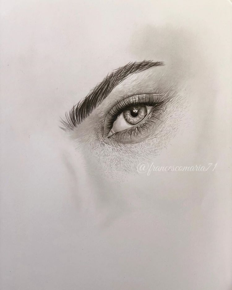 Girls eye drawn from scratch