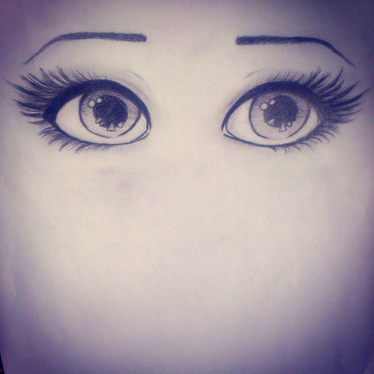 Disney style eyes drawing