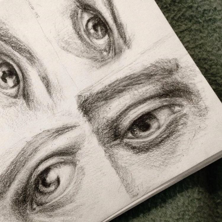 Quick sketches for eye drawing practice