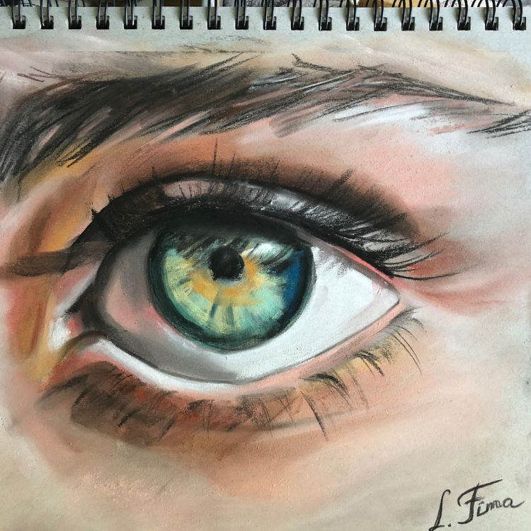 Realism - drawing a human eye and eyebrow