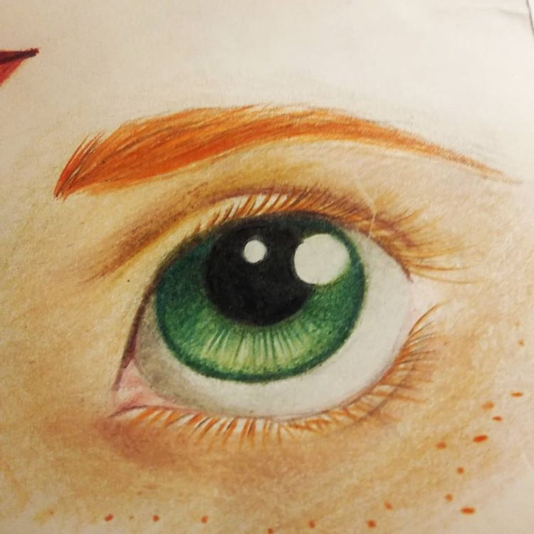 Innocent looking eye drawing