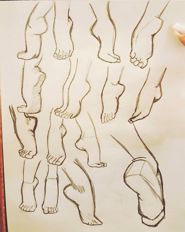 Random feet sketches