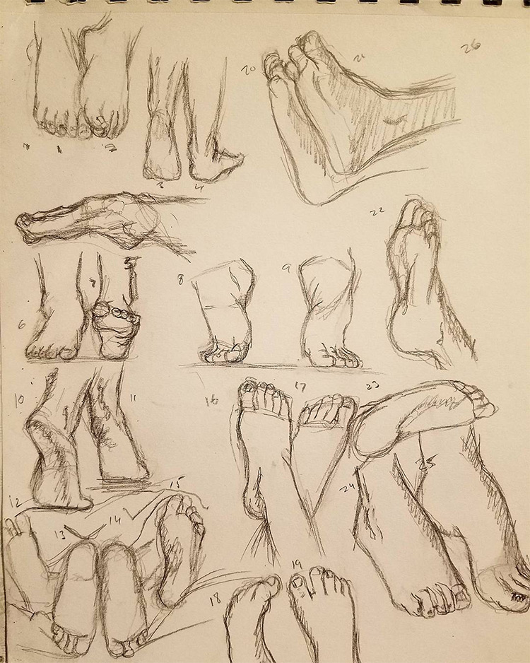 65 Drawings Of Feet Sketches Anatomy Studies