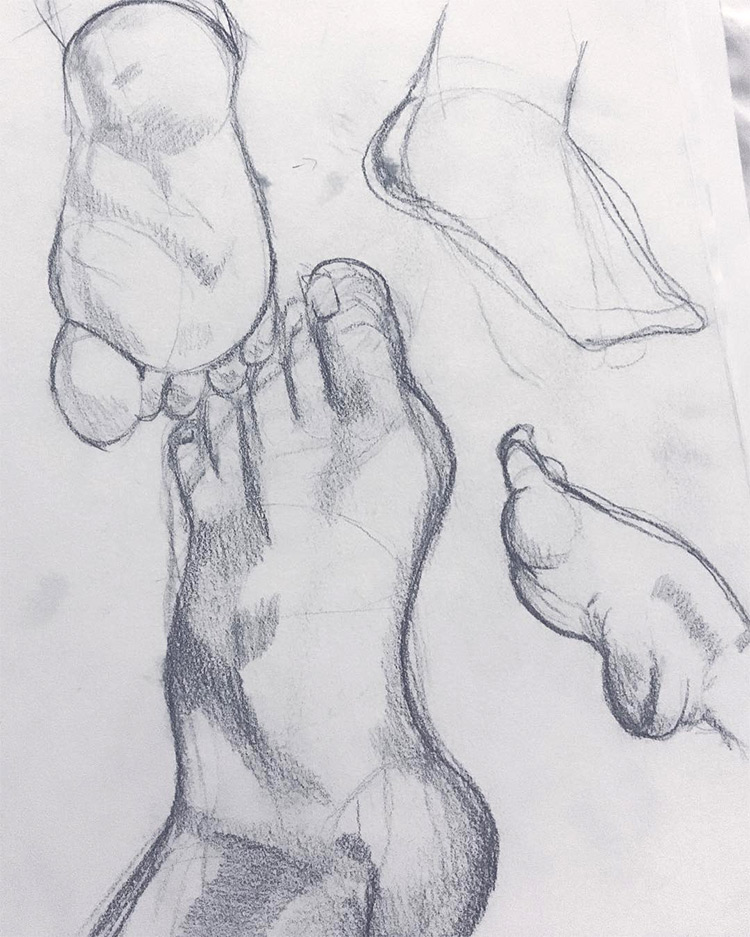 rough feet sketches