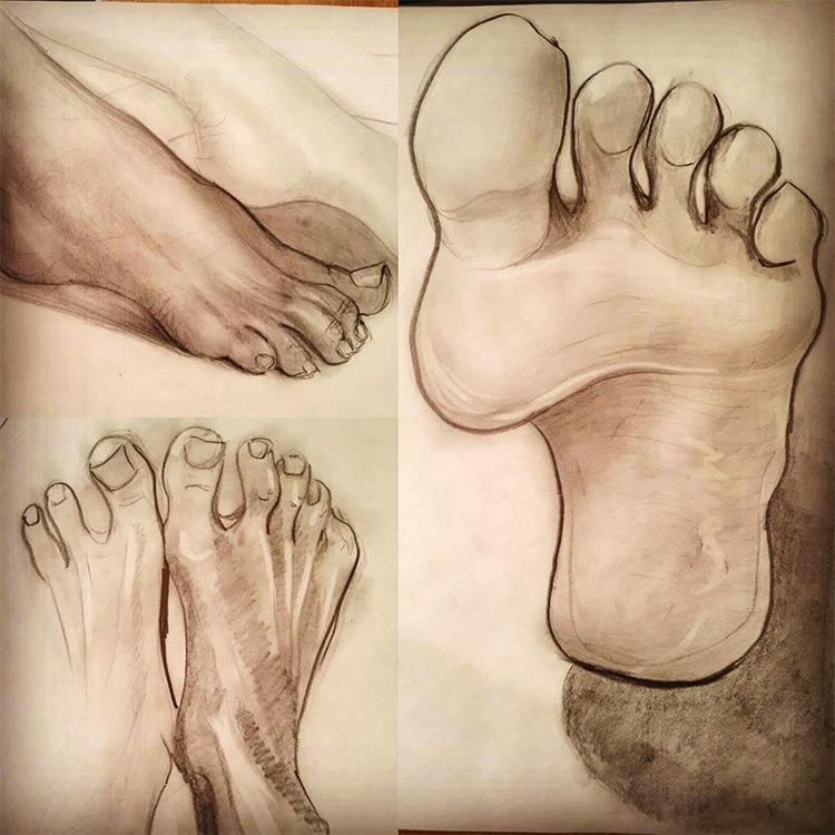 Clean linework in feet drawings