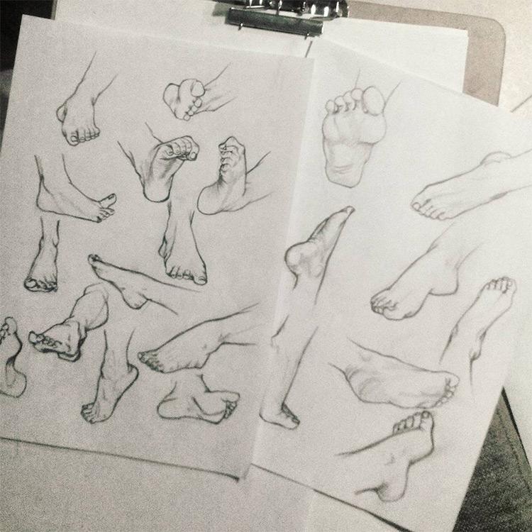 Shaded feet drawings