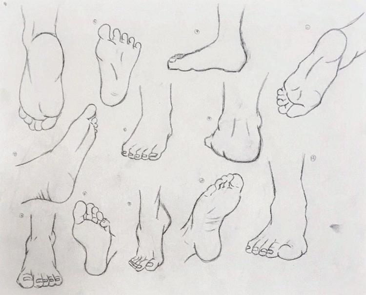 Beginner practicing feet