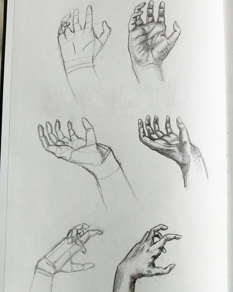 100+ Drawings Of Hands: Quick Sketches & Hand Studies