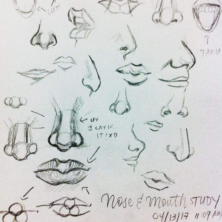Realst art - drawings of noses