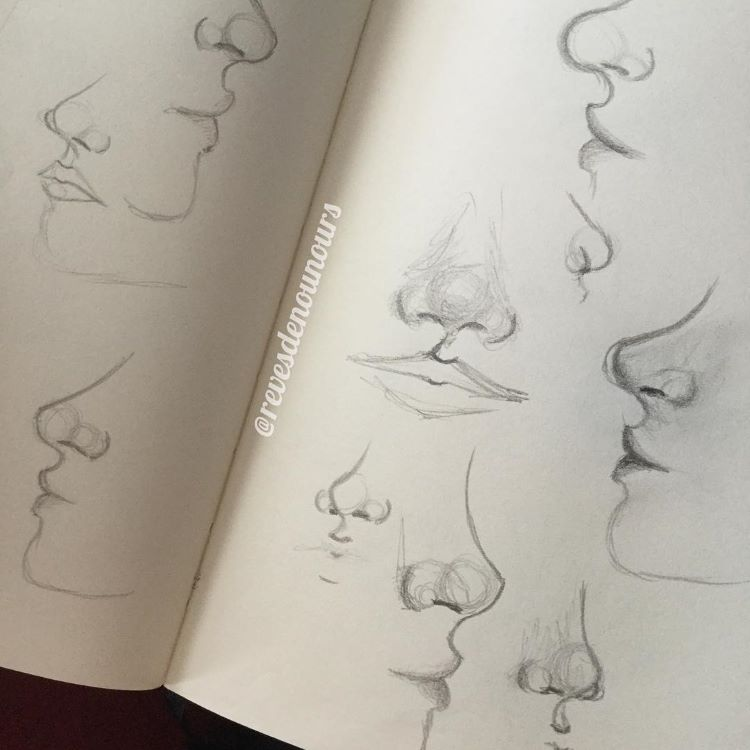 Drawings featuring noses
