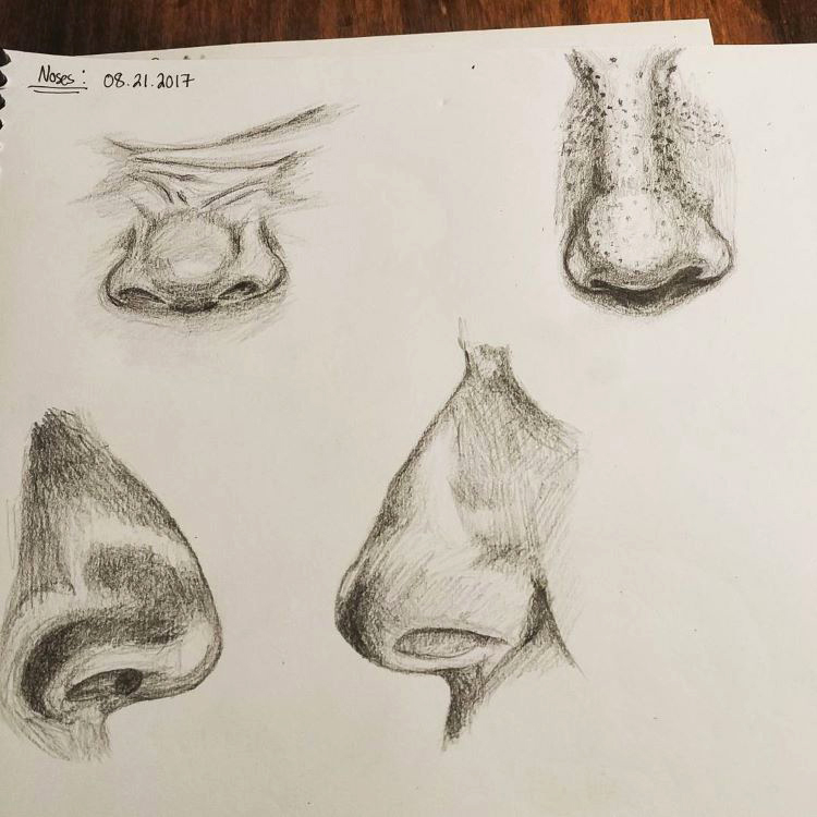 Practicing oddly shaped noses