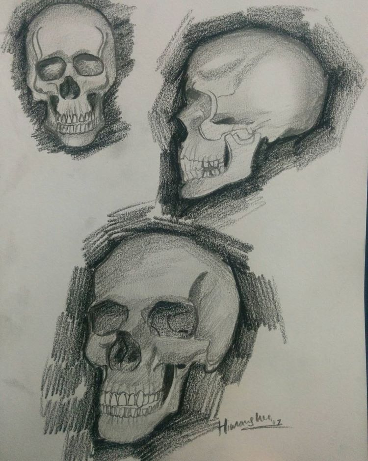 Rich skull drawings darker