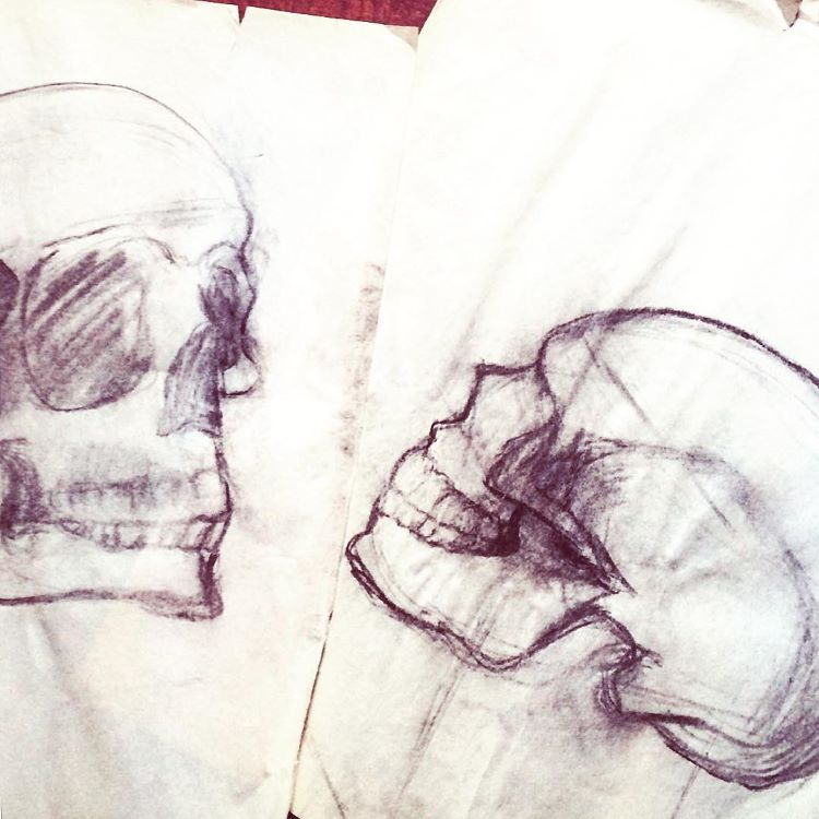Quick skulls with pen