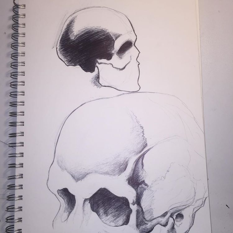 Dark skull shadows