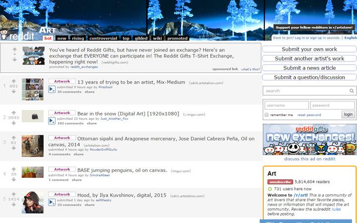 reddit r art community