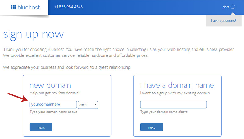 register new domain
