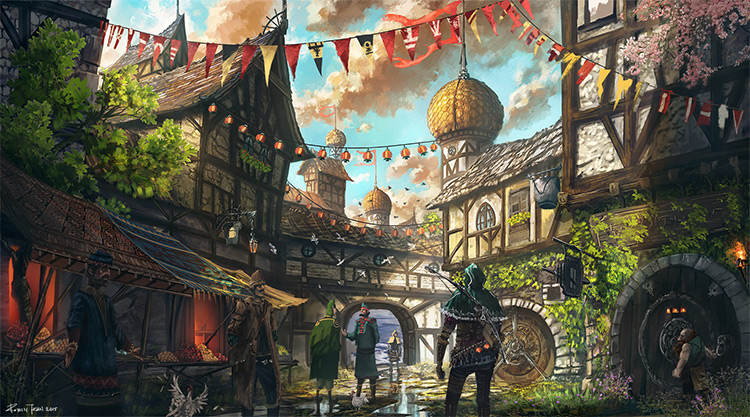 Tale of 2 Tales 01-basic-medieval-town-concept