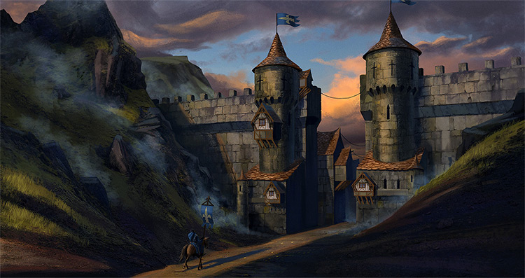 castle gates concept art