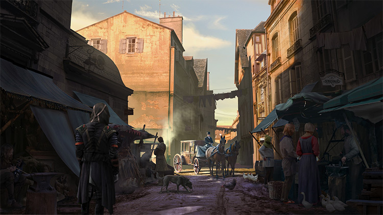 marketplace medieval concept art design