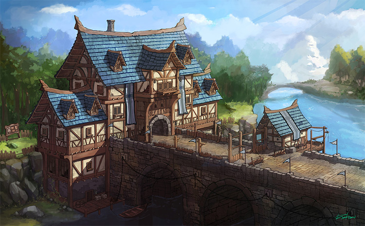 medieval gate house concept