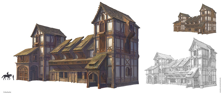architecture house exterior concept art
