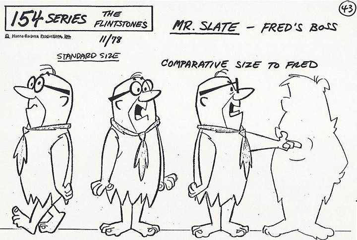 mr slate the flintstones model sheet