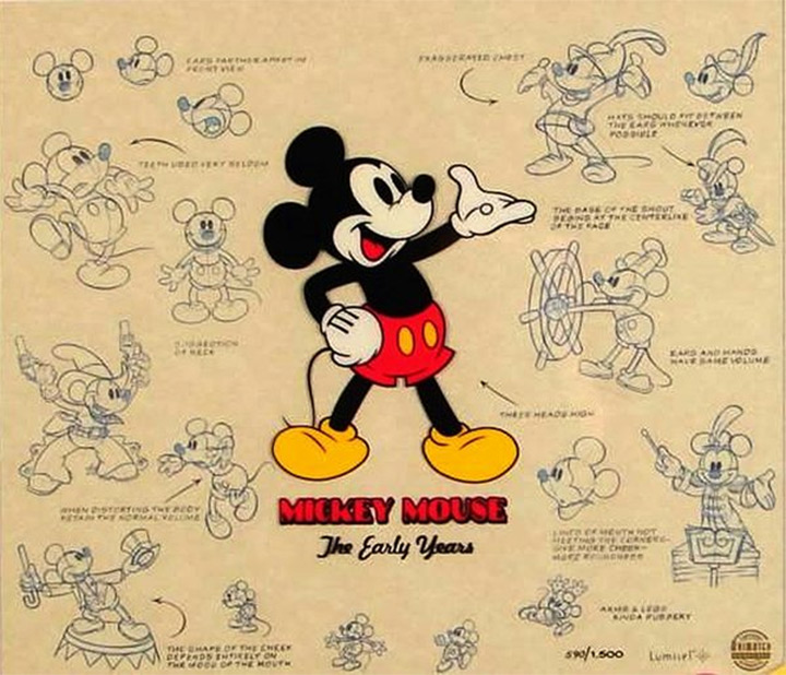 model sheet background photo mickey mouse