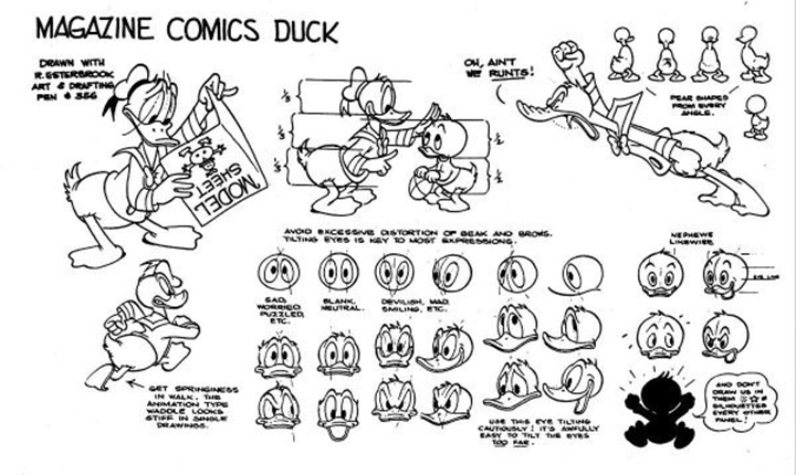 classic donald duck model sheet