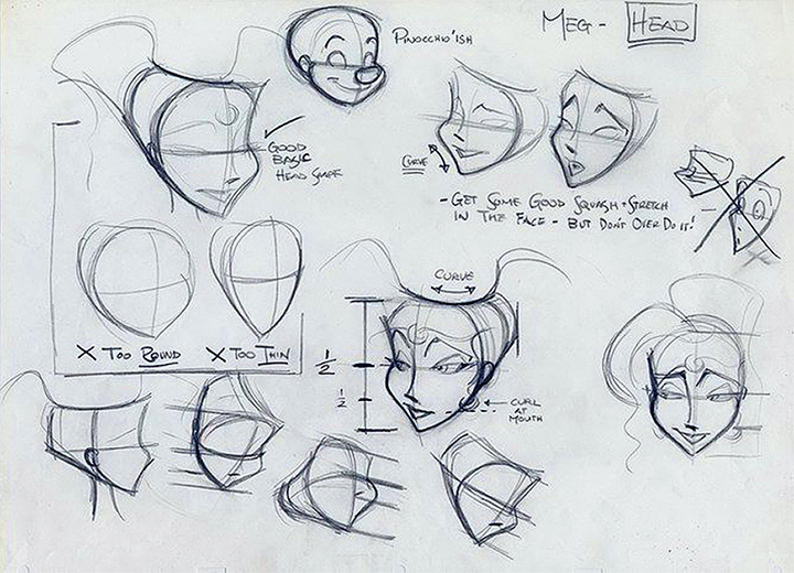 hercules meg face model sheet